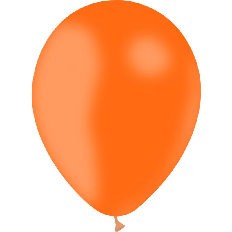 SMP 10 x orange latex balloons 30 cm 100% biodegradable
