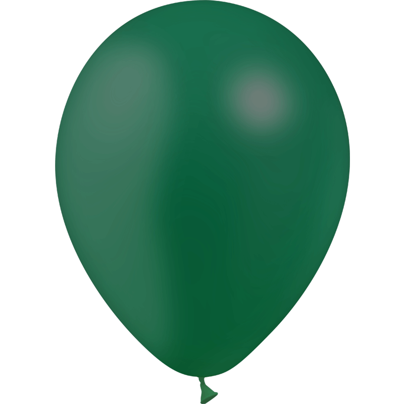 SMP 10 x forest green latex balloons 30 cm 100% biodegradable