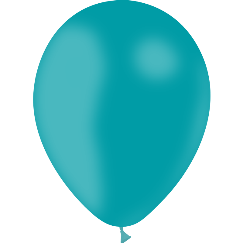 SMP 10 x turquoise latex balloons 30 cm 100% biodegradable