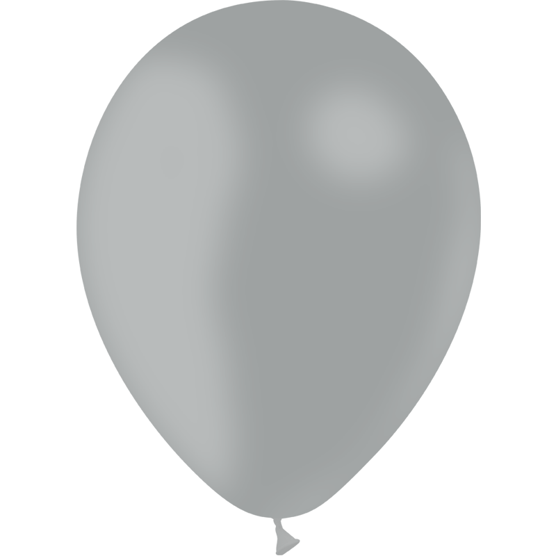 SMP 10 x grey latex balloons 30 cm 100% biodegradable