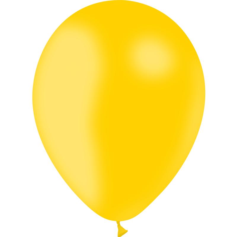 SMP 10 x deep yellow latex balloons 30 cm 100% biodegradable