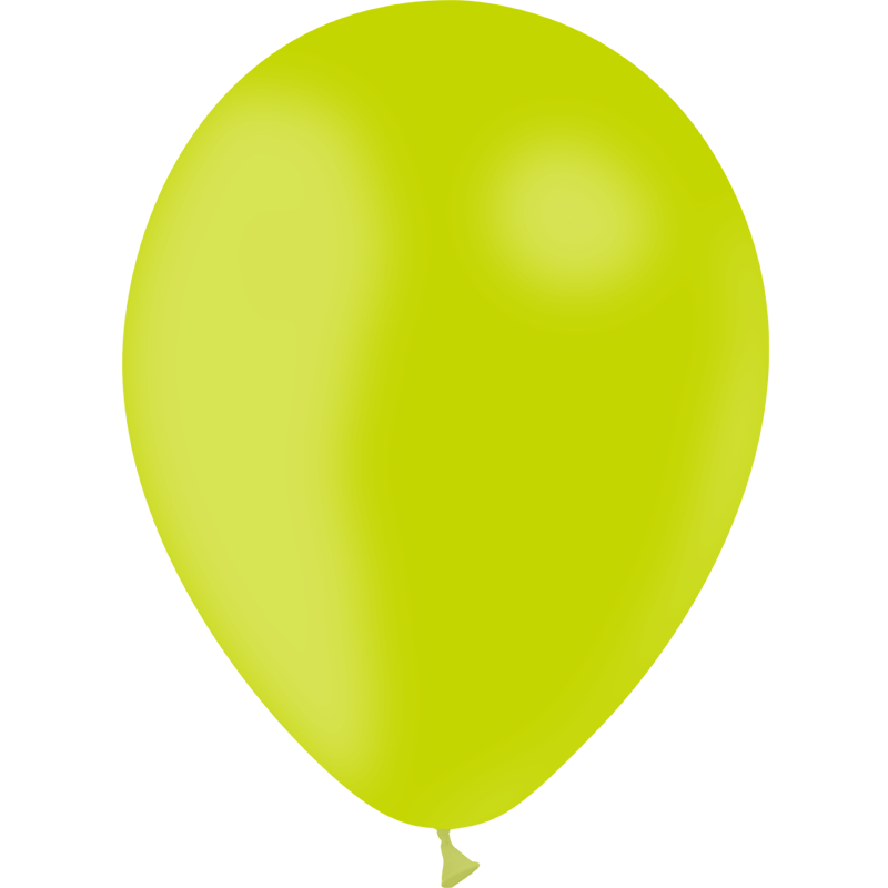 SMP 10 x lime latex balloons 30 cm 100% biodegradable