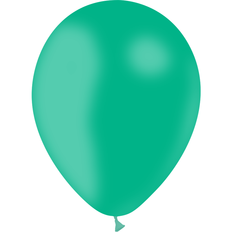 SMP 10 x mint latex balloons 30 cm 100% biodegradable