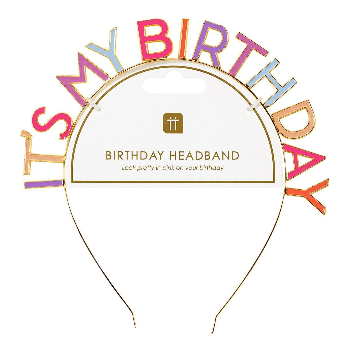 TT ROSE 'IT'S MY BIRTHDAY' ALLOY HEADBAND