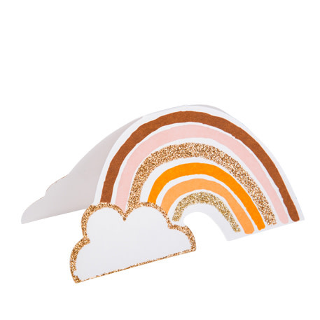 AF rainbow blush place cards 8 pieces 9X5CM