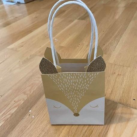 AF deer gift bag 4 pieces 10X11X7CM