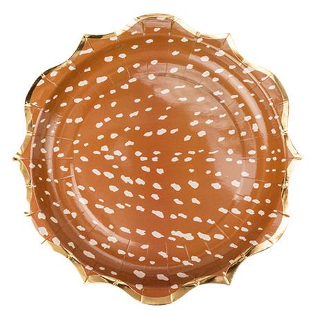 AF deer plates 8 pieces 23CM