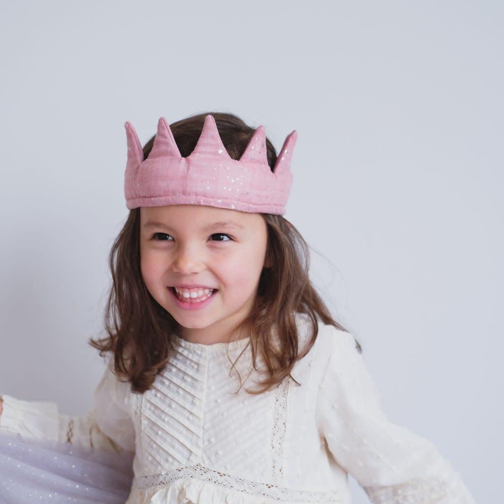 Mimi & Lula Super soft velvet crown pink