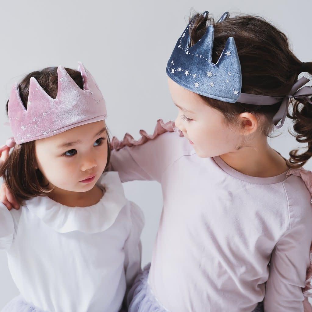 Mimi & Lula Mystical velvet crown-grey