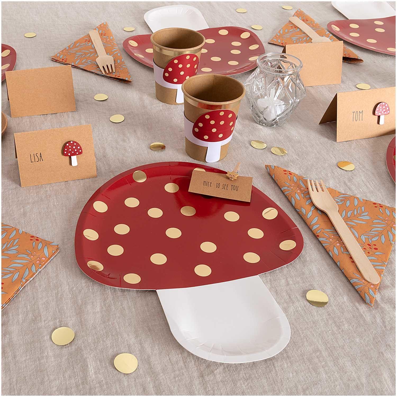 RICO PAPER PLATE mushroom, FSC MIX