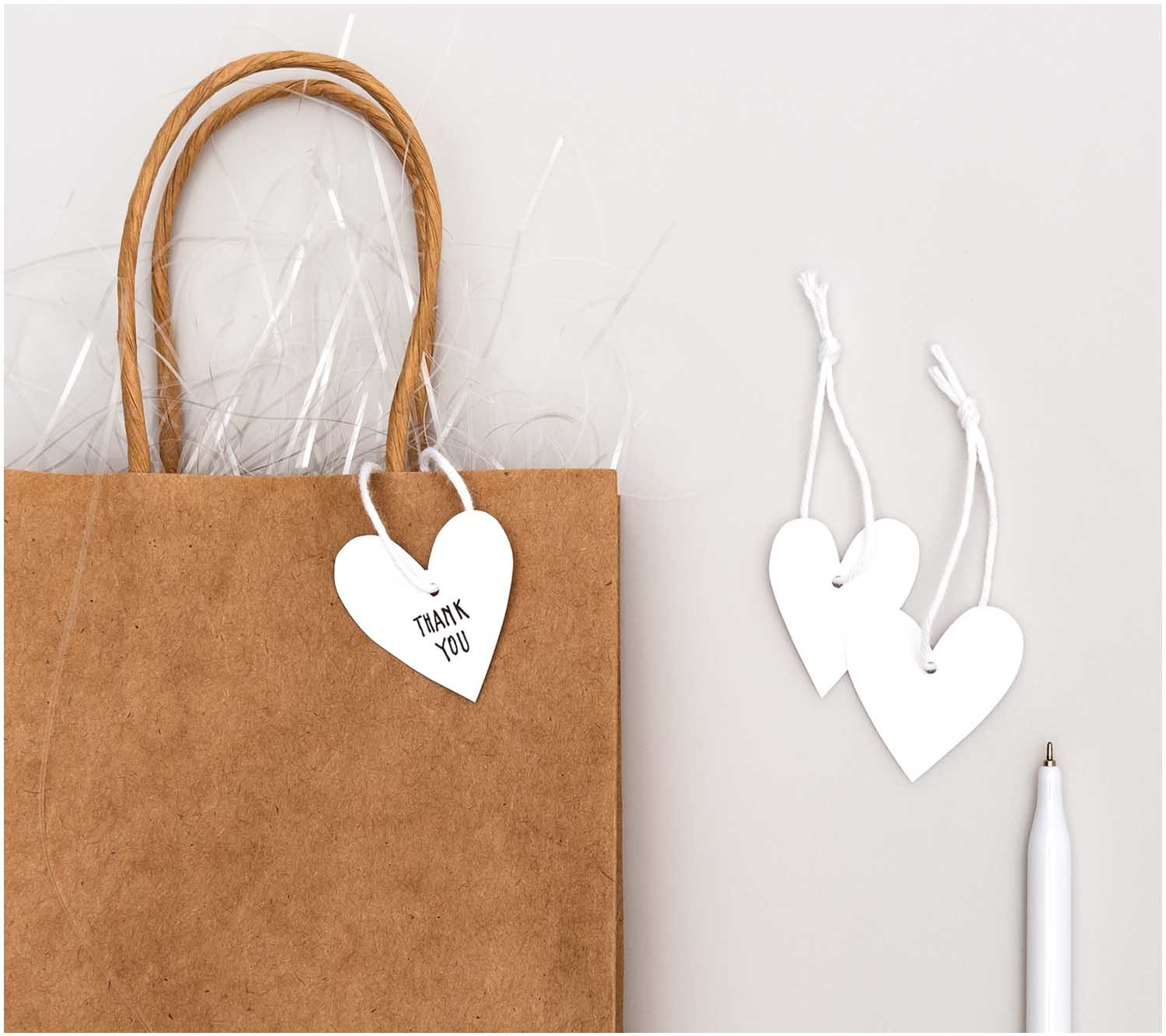 RICO TAGS, HEARTS S, WHITE