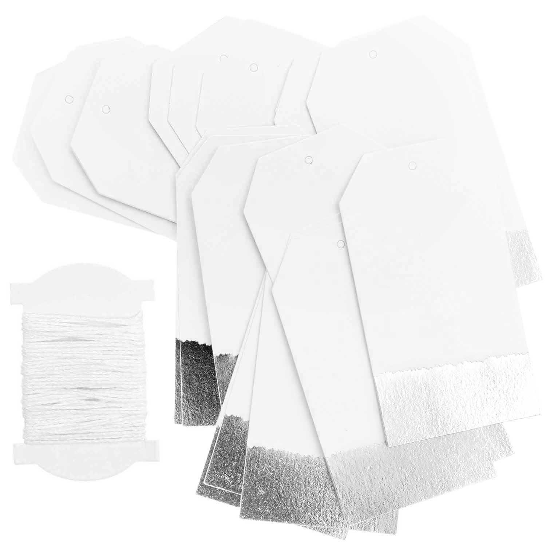 RICO PAPER TAGS L,WHITE/SILVER