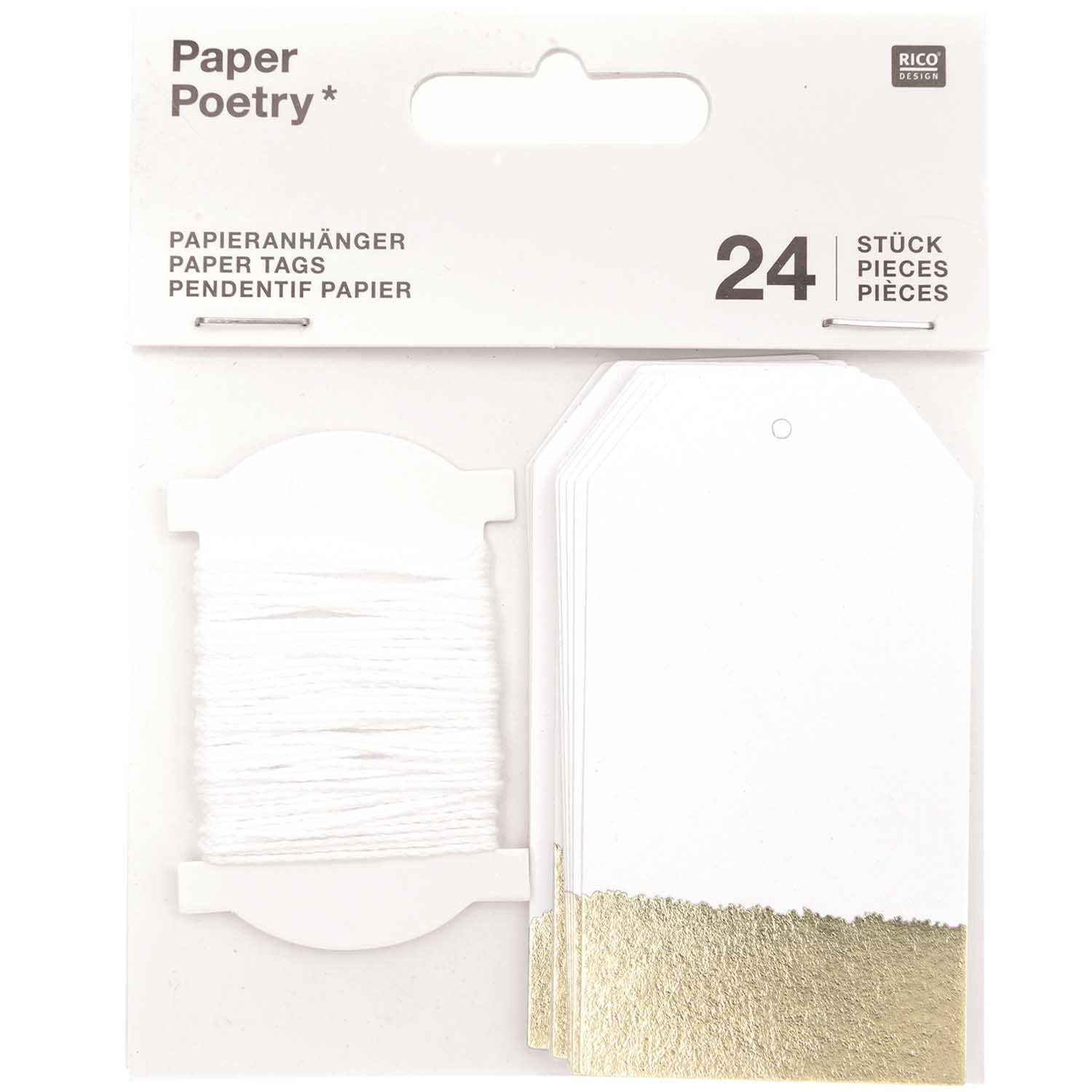 RICO PAPER TAGS L,WHITE/GOLD