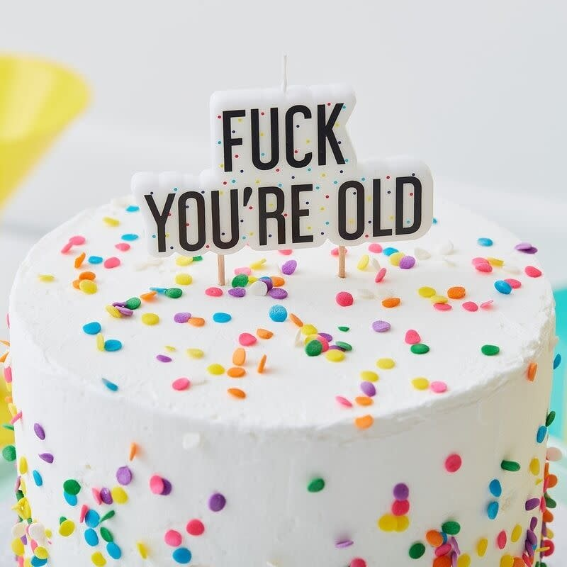 GINGERRAY FUCK YOU'RE OLD BIRTHDAY CAKE CANDLE - NAUGHTY PARTY