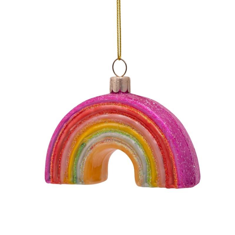 VS Ornament glass multi soft color rainbow H6cm