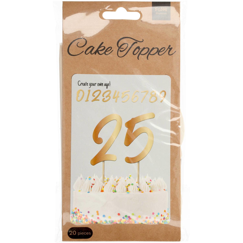 FT Cake toppers Elegant gold