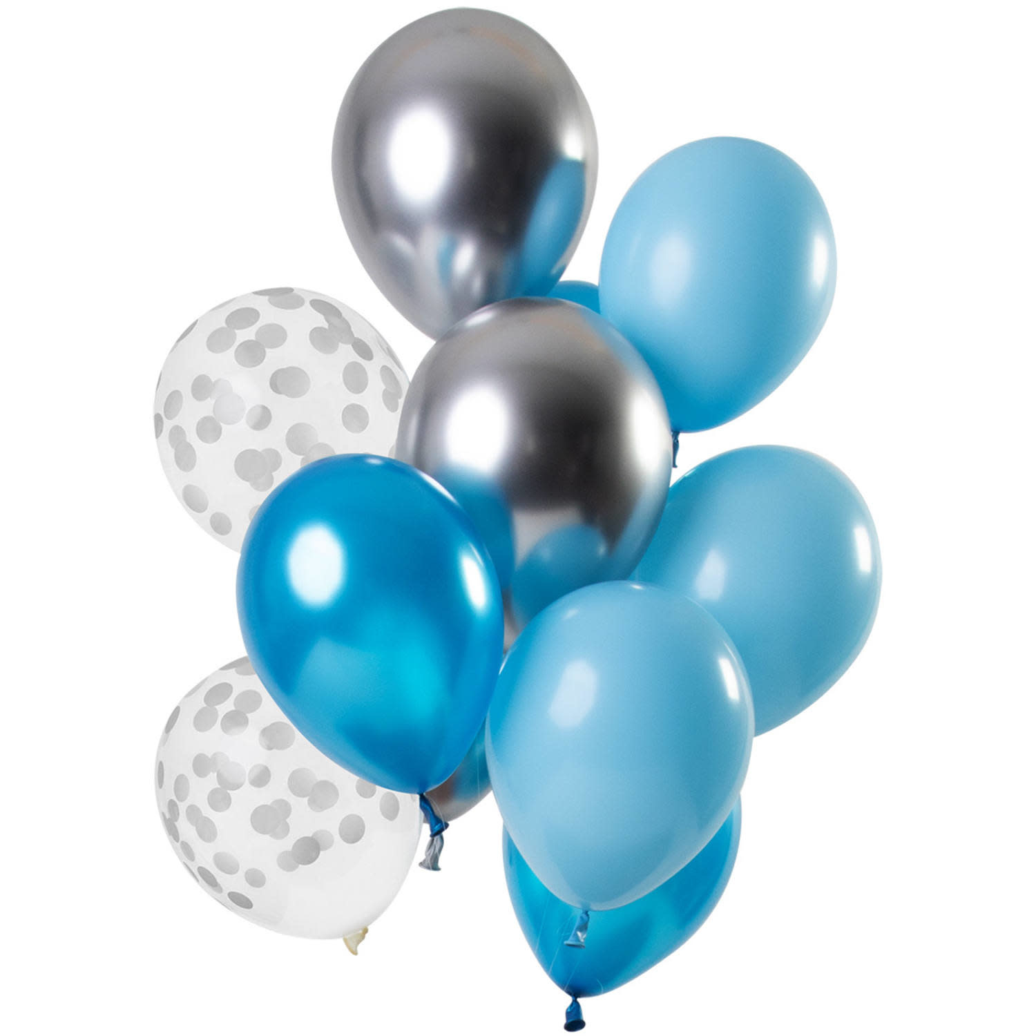 FT Mix blue silver latex balloons 30 cm 12 x