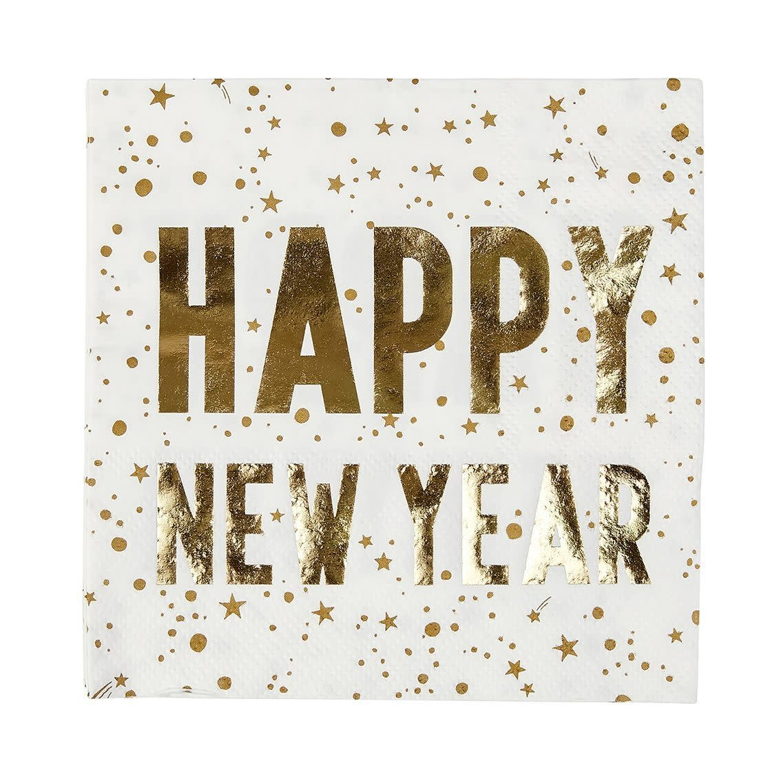 TT Luxe Happy New Year Napkin, 25Cm, 16Pk