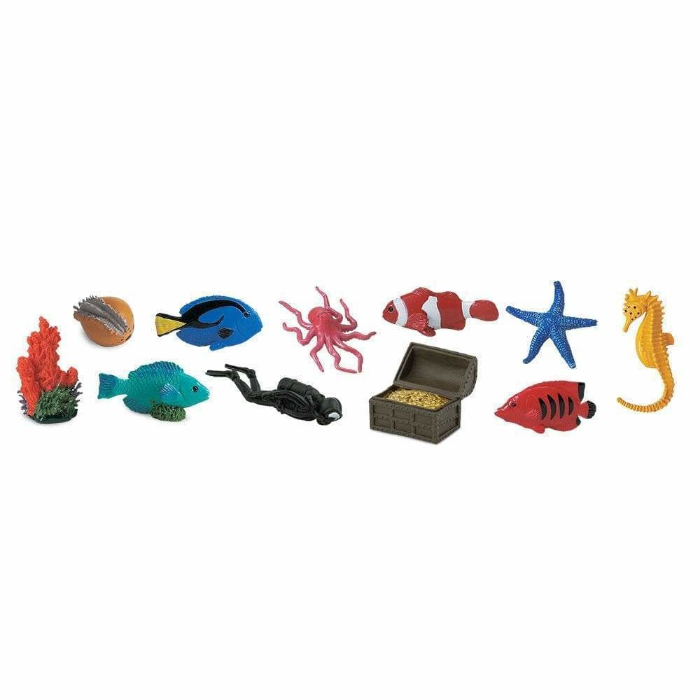 SAFARI Coral Reef animals 3-5 cm 12 x