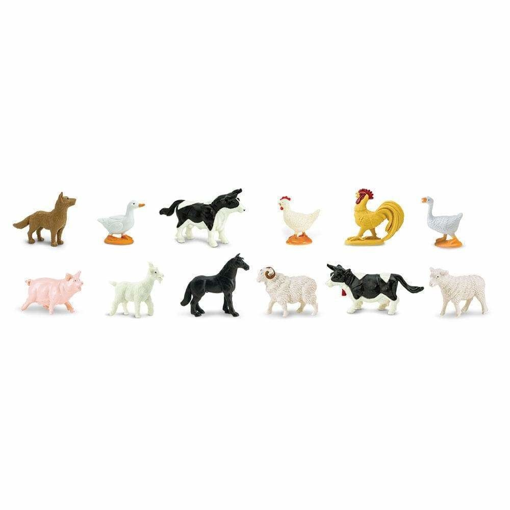 SAFARI Farm  ANIMALS 3-5 CM 12 X