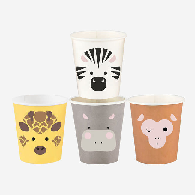 MY LITTLE DAY paper cups - mini safari