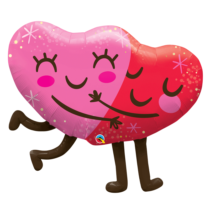 SMP hugging hearts foil balloon 90 cm