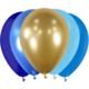 SMP 20 x latex balloons blue camaieu 30 cm 100 % biodegradable