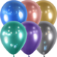 SMP 25 x latex balloons mix chrome 12,5 cm 100 % biodegradable