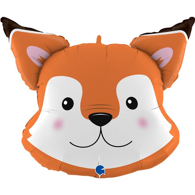 SMP fox head foil balloon 73 cm
