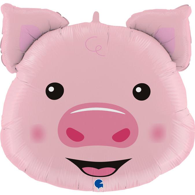 SMP pig head foil balloon 76 cm