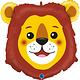 SMP lion head foil balloon 73 cm