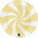 SMP Swirl matte yellow circle 45 cm
