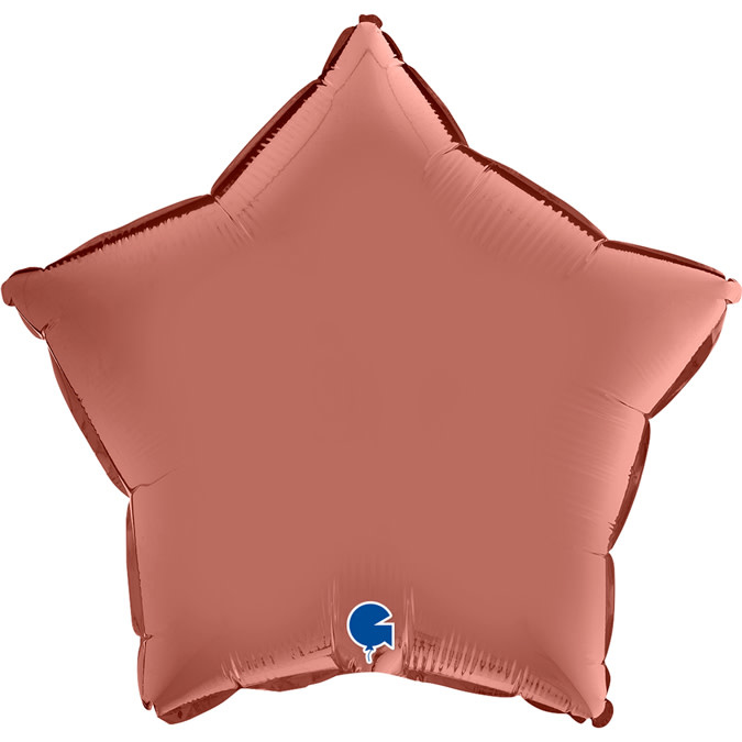 SMP star foil balloon satin rose gold 55 cm