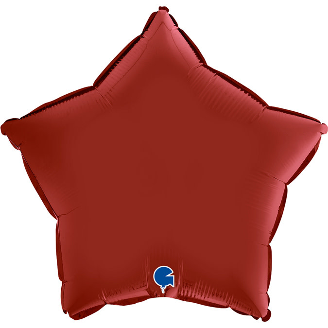 SMP star foil balloon ruby red 55 cm