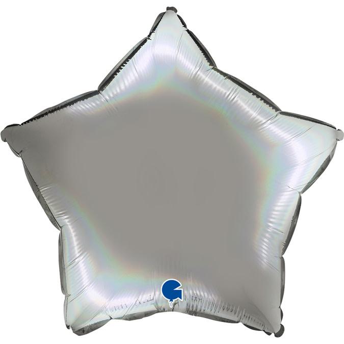 SMP star foil balloon pure platinum 55 cm