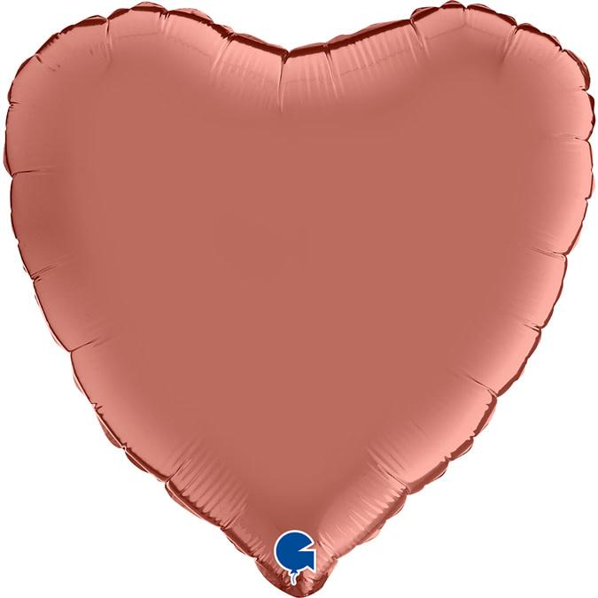 SMP heart satin rose gold foil balloon 45 cm