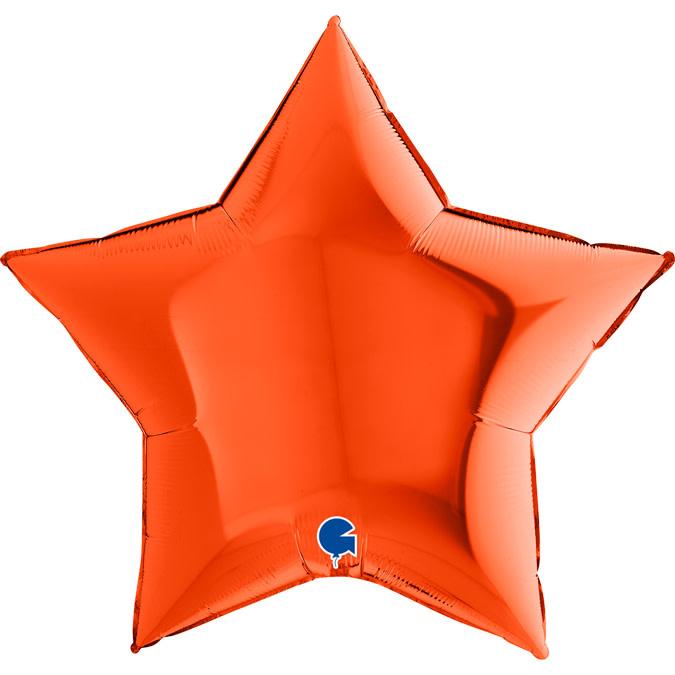SMP star foil balloon orange 55 cm