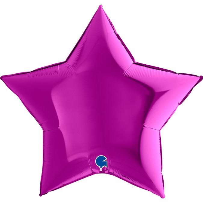 SMP star foil balloon purple 90 cm