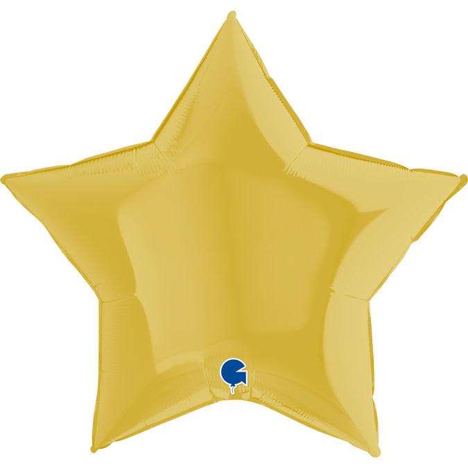 SMP star foil balloon pastel yellow 90 cm
