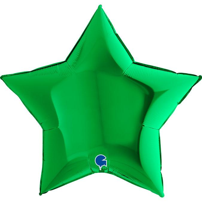 SMP star foil balloon green 90 cm