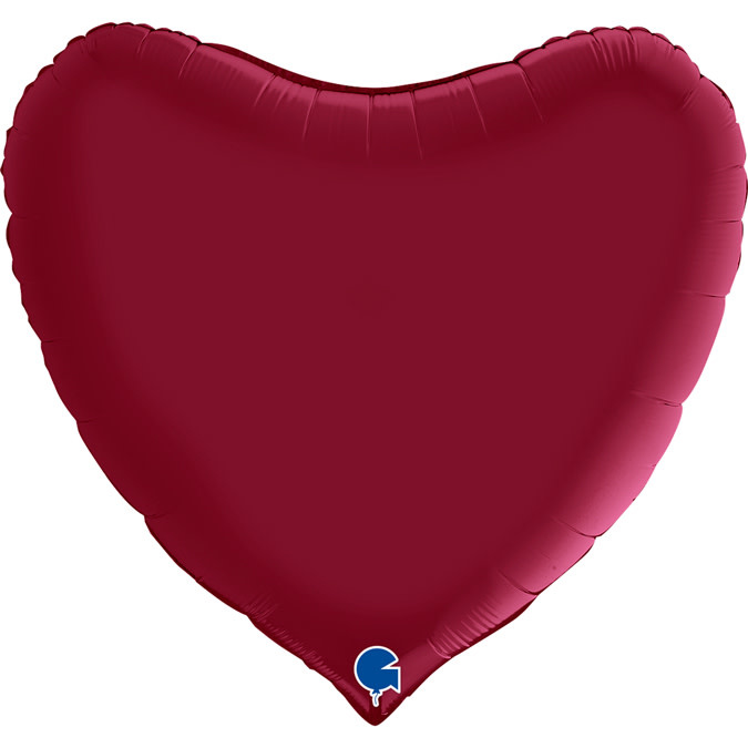 SMP heart satin cherry foil balloon 90 cm
