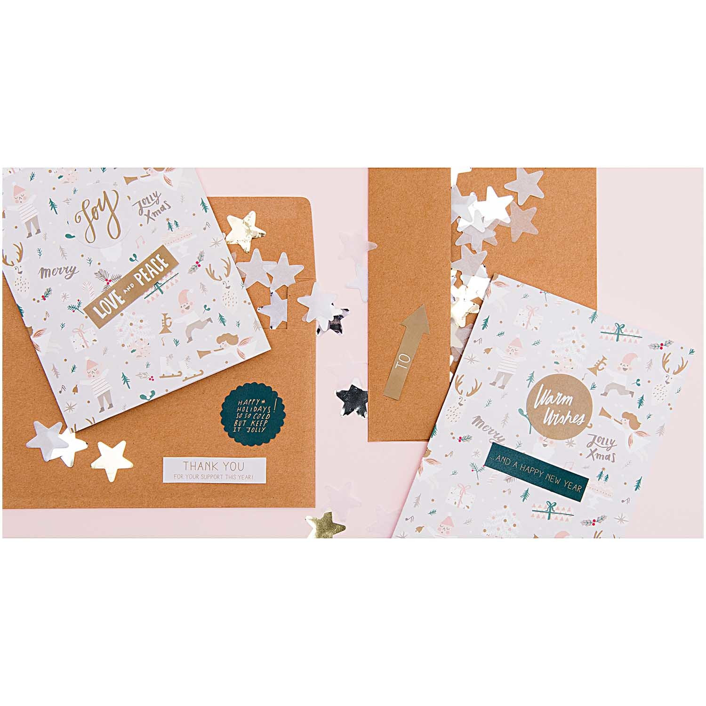 RICO DIY CARD,JOLLY CHRISTMAS,PASTEL
