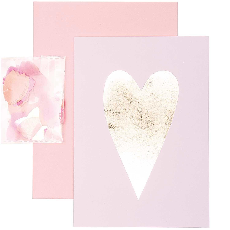 RICO DIY CARD, HEART, GOLD