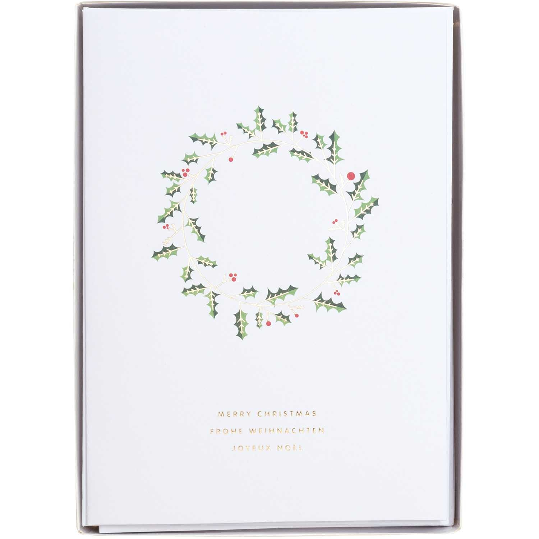 RICO CARD SET WREATH WHITE FSC MIX 8 x