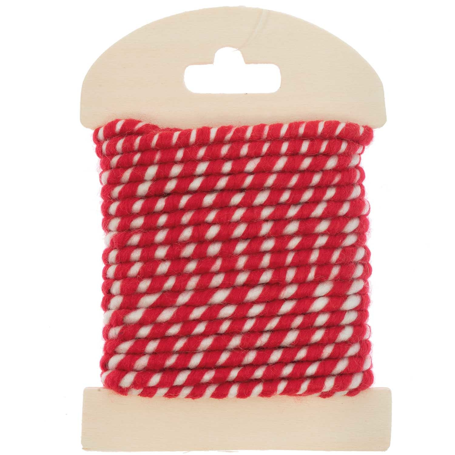 RICO CORD, 5 M, TWO-TONE, RED-WHITE