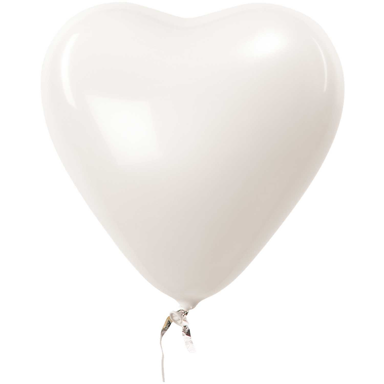 RICO BALLOONS HEART WHITE 30 cm 12 x