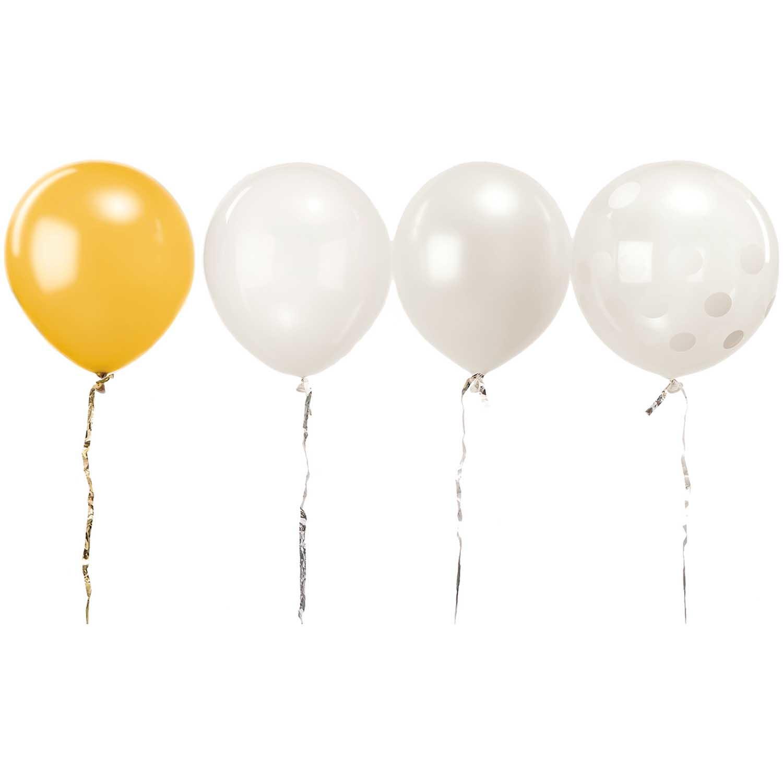 RICO WHITE MIX balloons 30 cm, 12 x