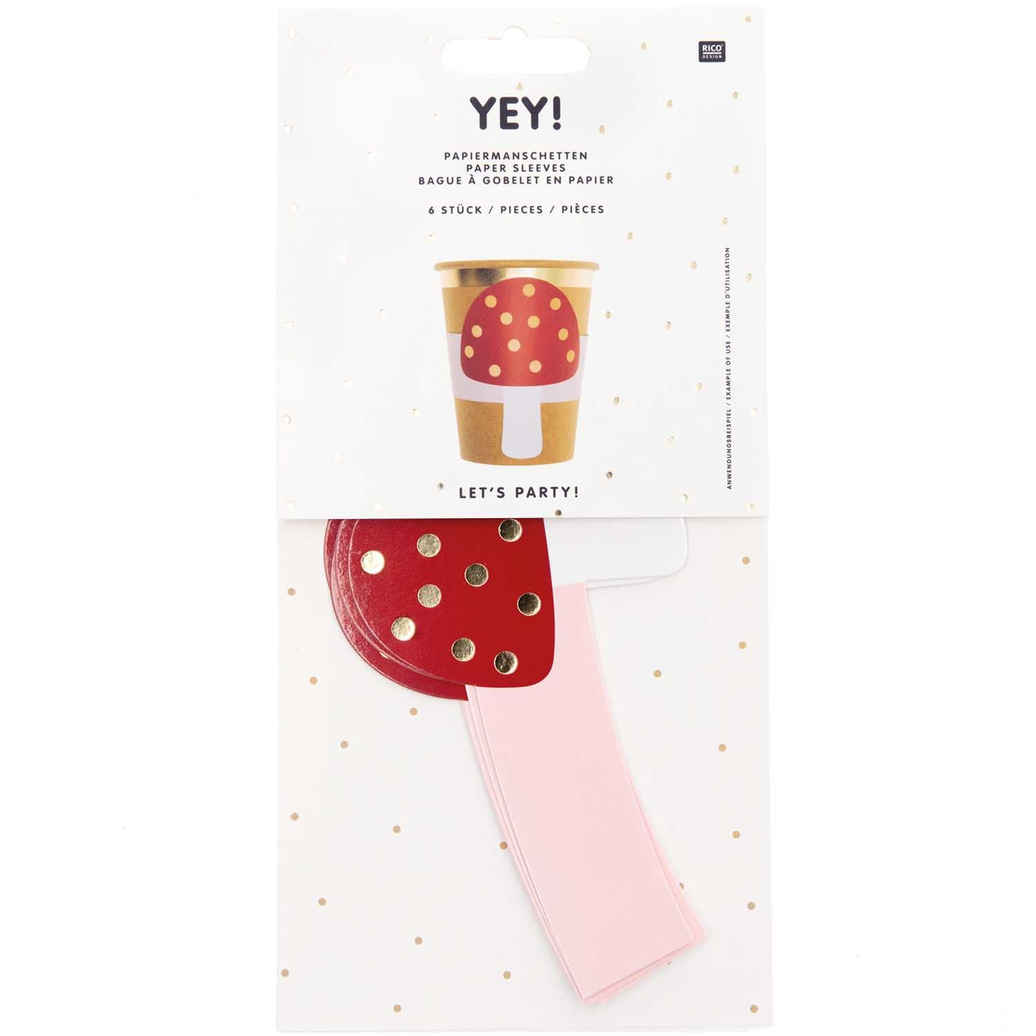 RICO PAPER CUP SLEEVES, MUSHROOM FSC MIX