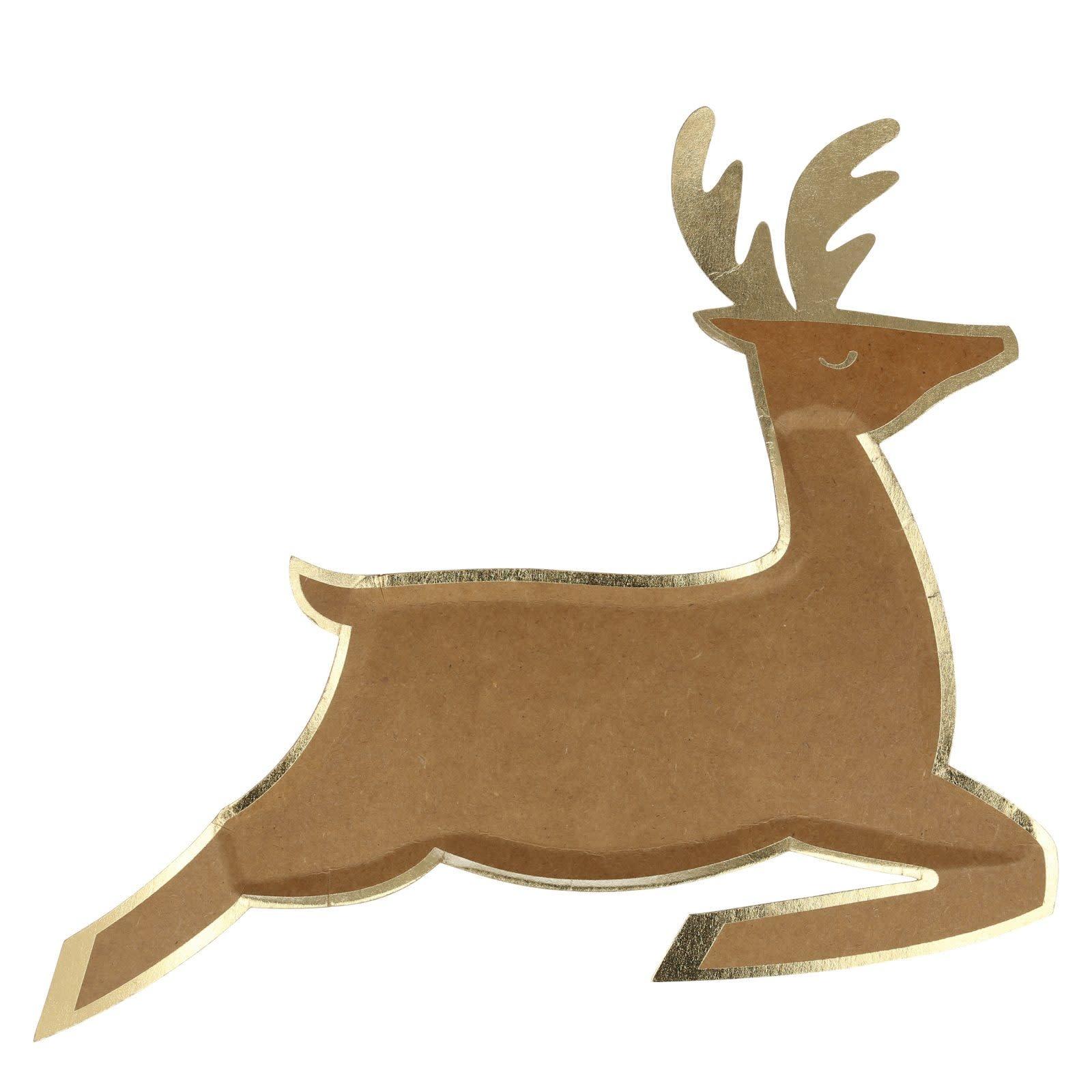 MERIMERI Leaping reindeer plates