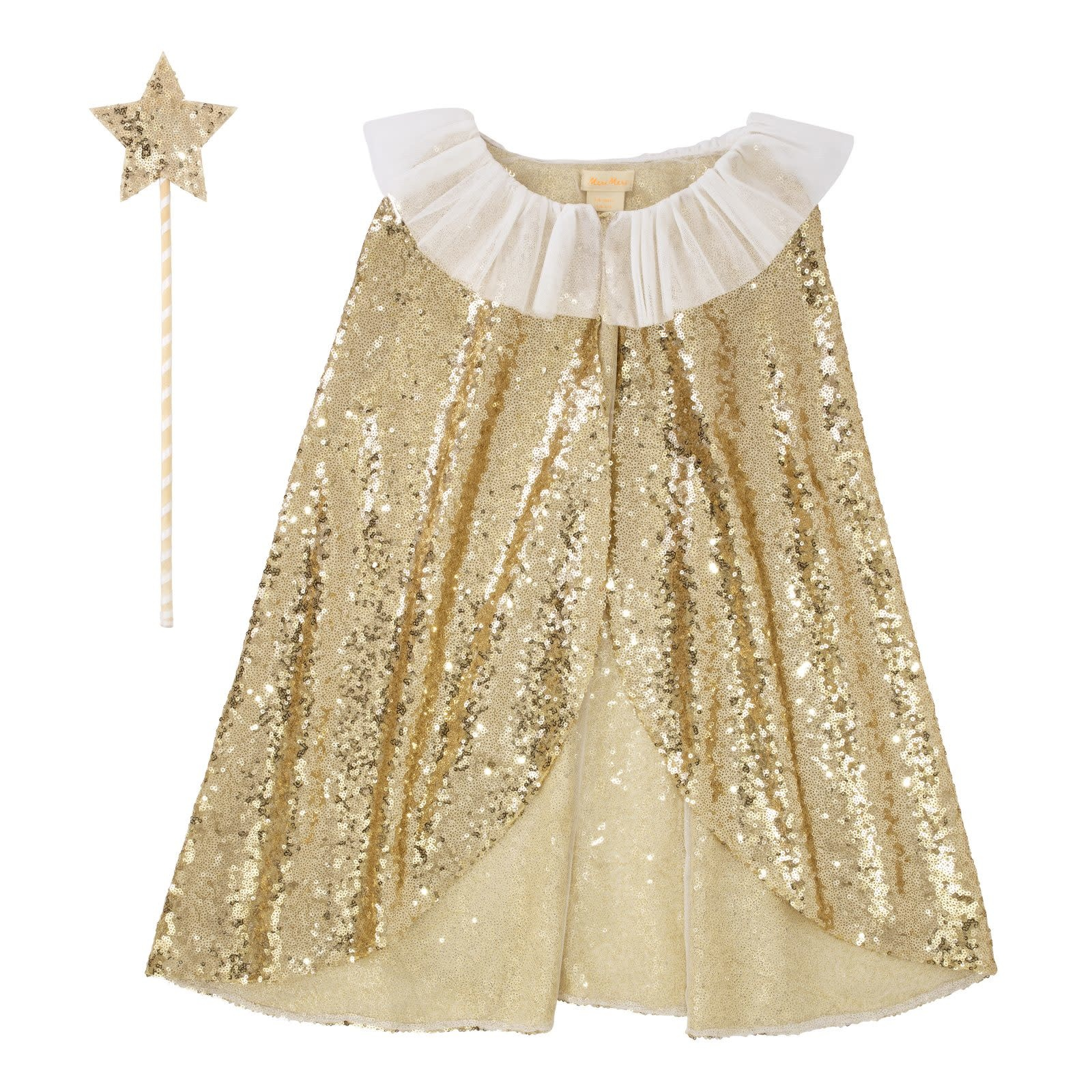 MERIMERI Gold sparkle cape